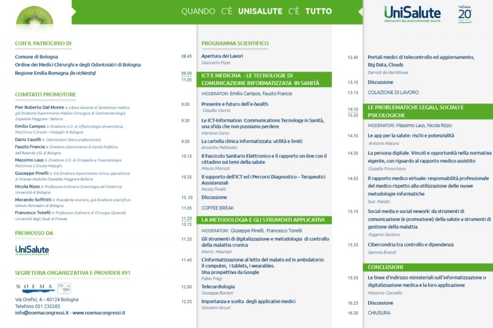 seconda parte del programma del Convegno UniSalute 2015