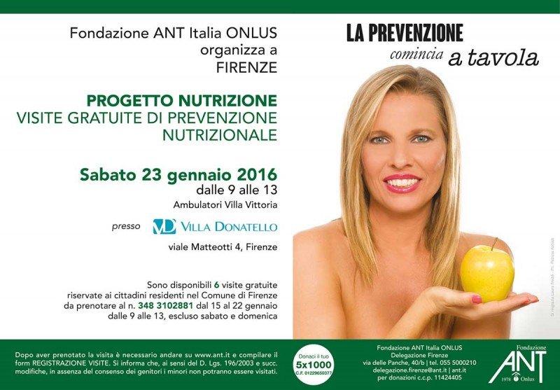 Laura Freddi testimonial della campagna di prevenzione nutrizionale ANT