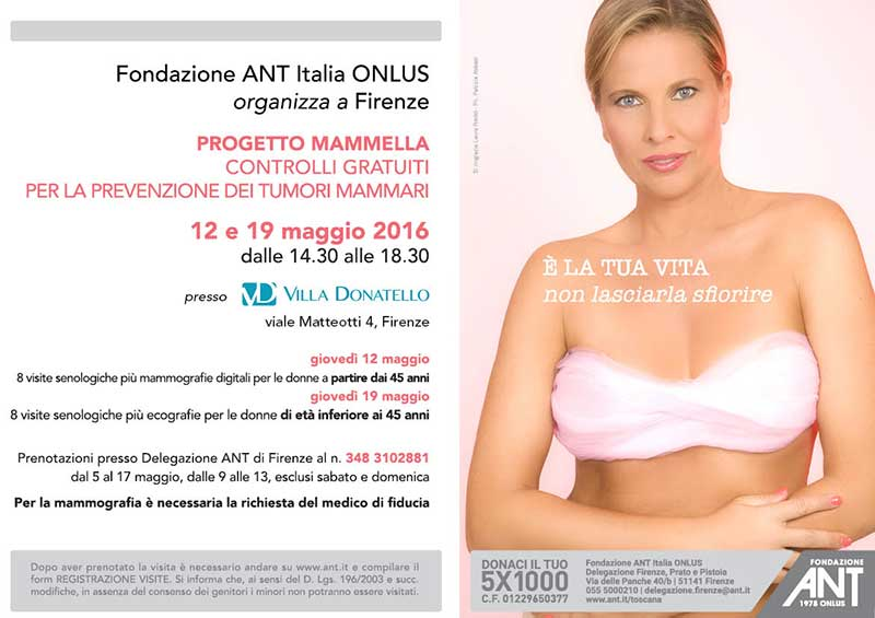Laura Freddi testimonial della campagna di prevenzione contro il tumore al seno