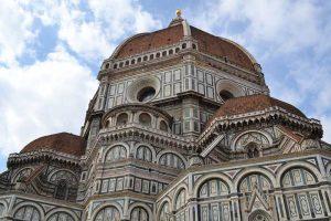 immagine ravvicinata del Duomo di Firenze
