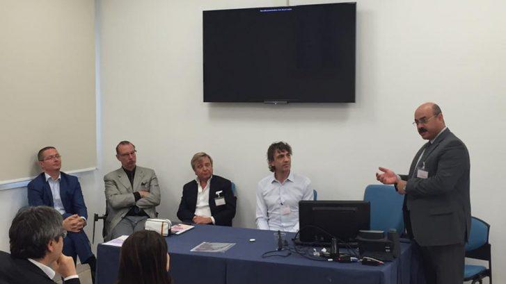 il tavolo dei relatori del convegno dedicato alle tecnologie laser