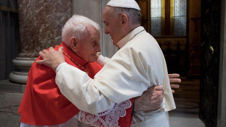 Il Cardinl Ernest Simoni assieme a Papa Francesco