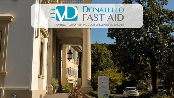 l'entrata di Fast Aid presso la Casa di Cura Villa Donatello a Firenze