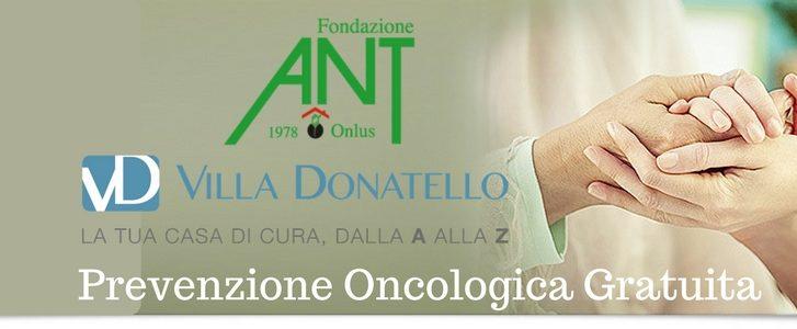 Logo di presentazione delle visite di prevenzione oncologica gratuita a Villa Donatello