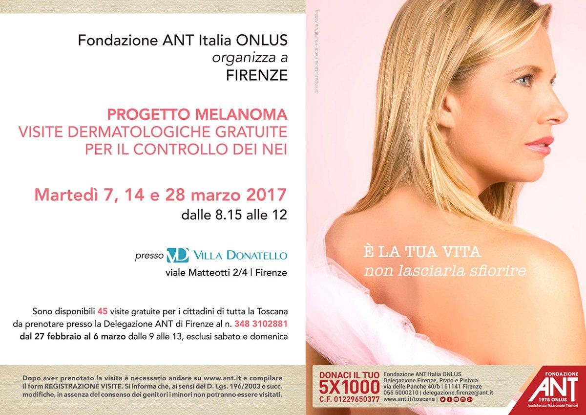 Laura Freddi sponsor del Progetto Melanoma di Fondazione ANT