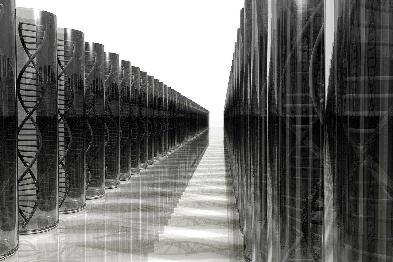 immagine astratta dedicata al DNA