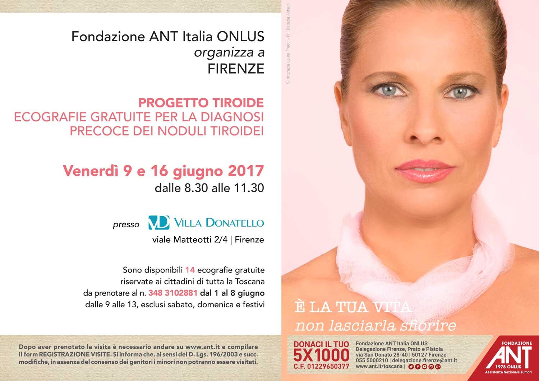 locandina delle visite gratuite del progetto tiroide a Firenze