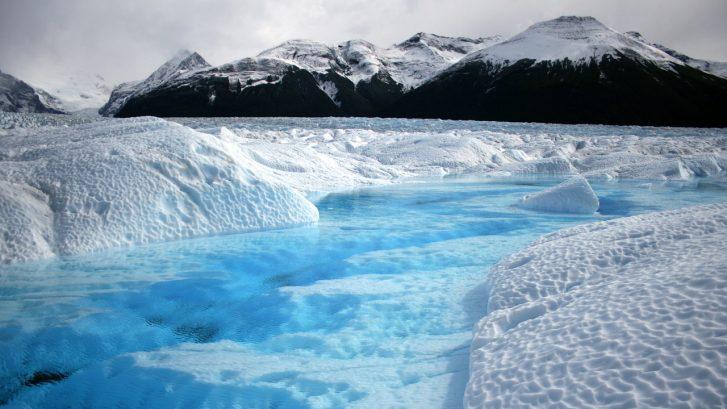 immagine dei ghiacci che si sciolgono al Polo