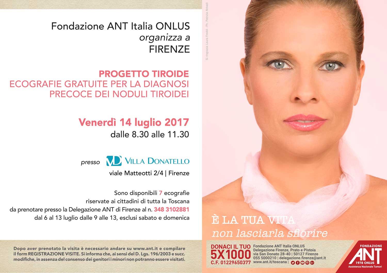locandina di presentazione del progetto tiroide a Luglio