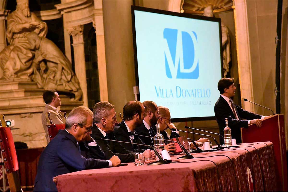 Sindaco di Firenze Dario Nardella e membri delle istituzioni presentato la Stagione Sportiva del Rugby Club I Medicei