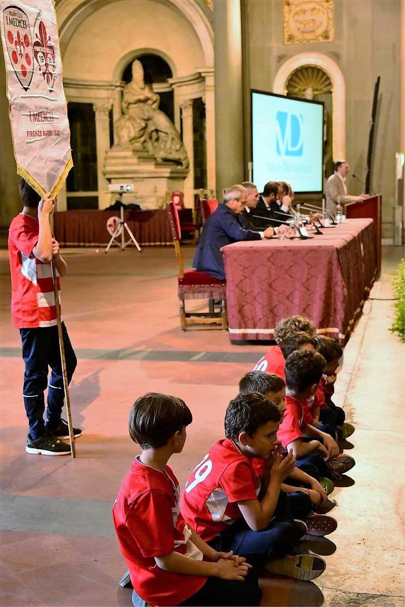 giovani atleti del Rugby Club I Medicei di Firenze alla presentazione della nuova Stagione Sportiv