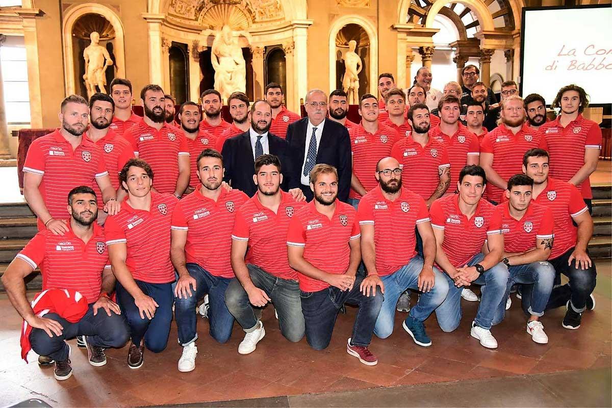 foto di gruppo della Prima Squadra del Rugby Club I Medicei di Firenze