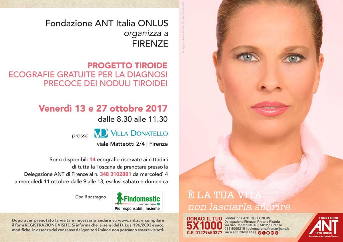 Laura Freddi testimonial del Progetto Tiroide di Fondazione ANT Italia ONLUS