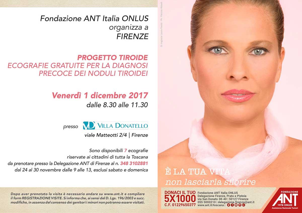 Il volantino di presentazione del Progetto Tiroide per Dicembre 2017 a Firenze