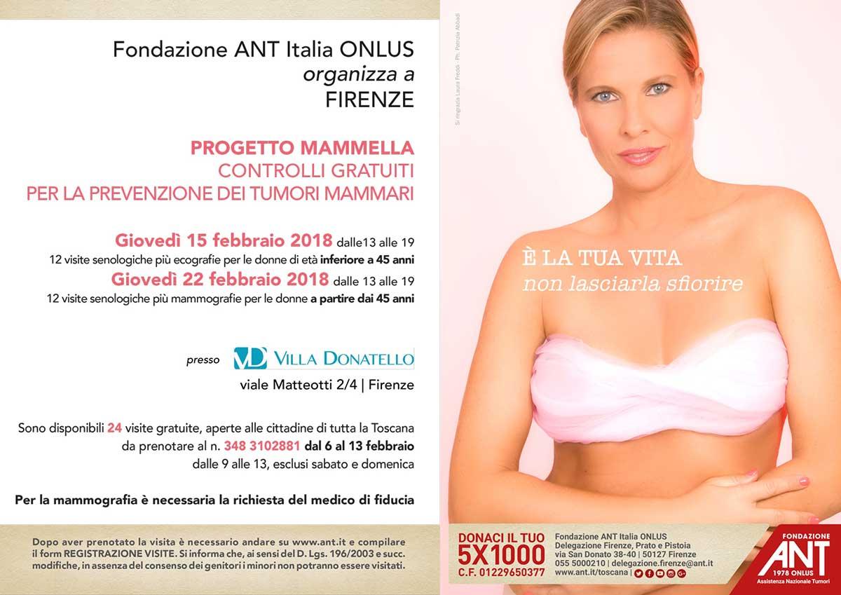 locandina di presentazione del Progetto Mammella per Febbraio