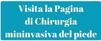 banner per il Percorso di cura di Chirurgia Mininvasiva del Piede