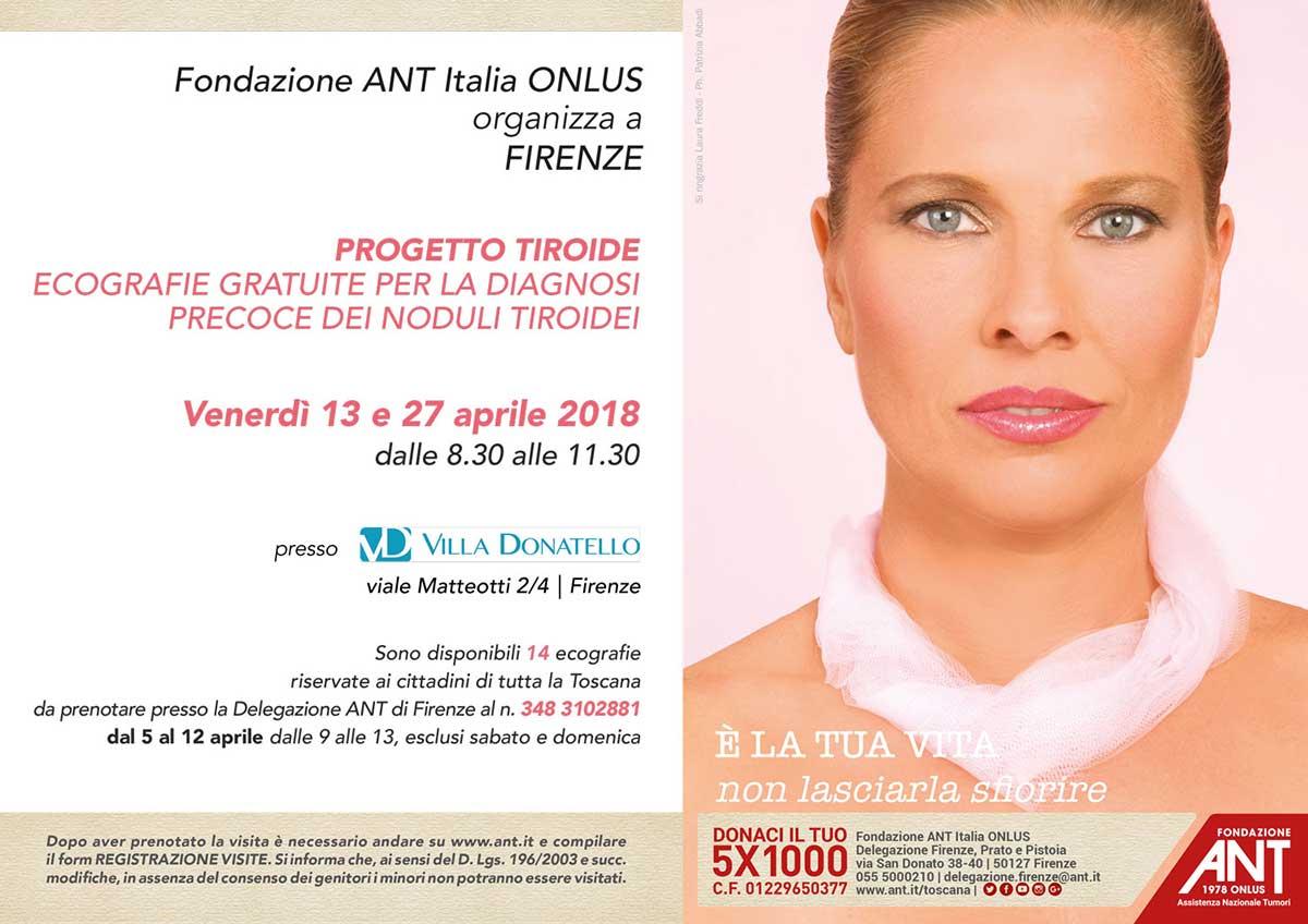 locandina del Progetto Tiroide ad Aprile 2018 a Firenze