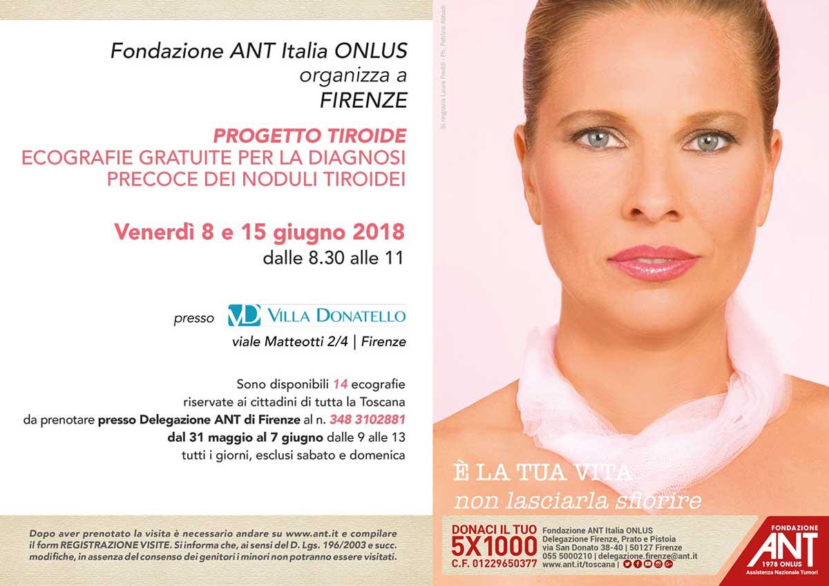 locandina del Progetto Tiroide Giugno 2018