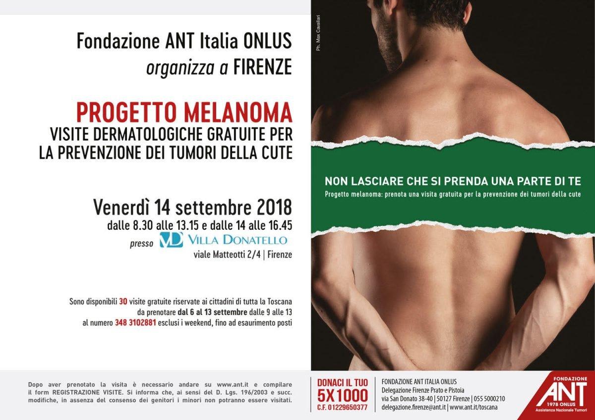 locandina del progetto Melanoma Settembre 2018 a Firenze