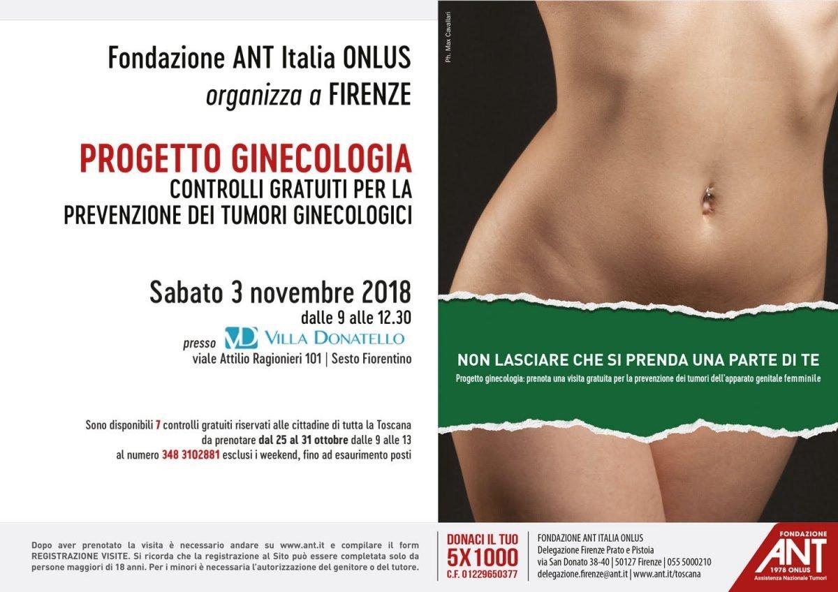 locandina del progetto ginecologia di Novembre 2018
