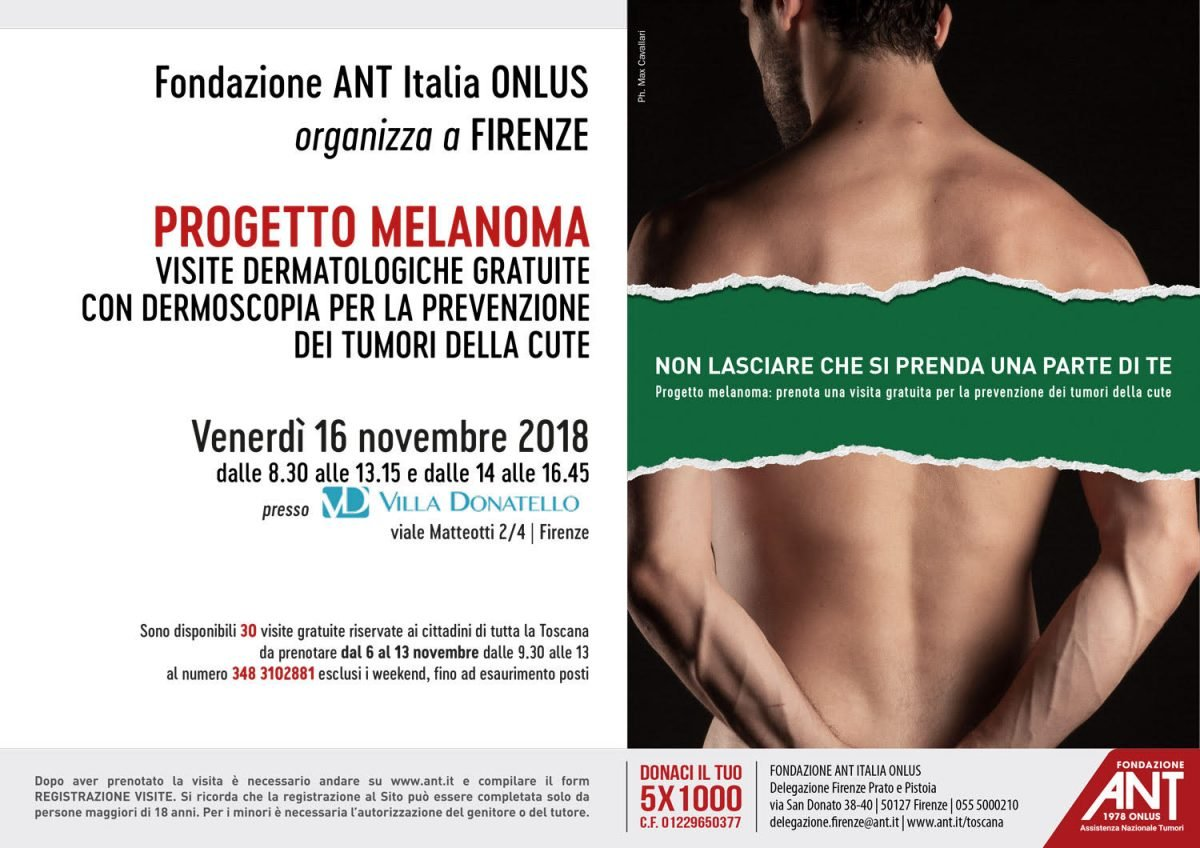 locandina del progetto melanoma novembre 2018