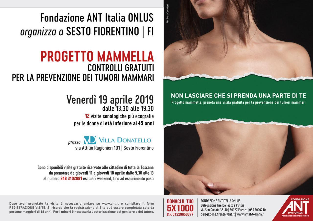 locandina del progetto mammella di Aprile 2019