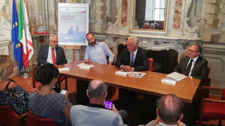 un momento della Conferenza Stampa di presentazione del progetto Donatello D'Argento