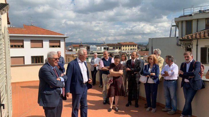 Una fase dell presentazione del rinnovato presidio medico di Villa Donatello in Viale Matteotti a Firenze