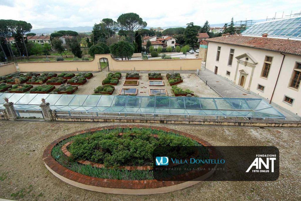 Il giardino di Villa Donatello visto dall'alto