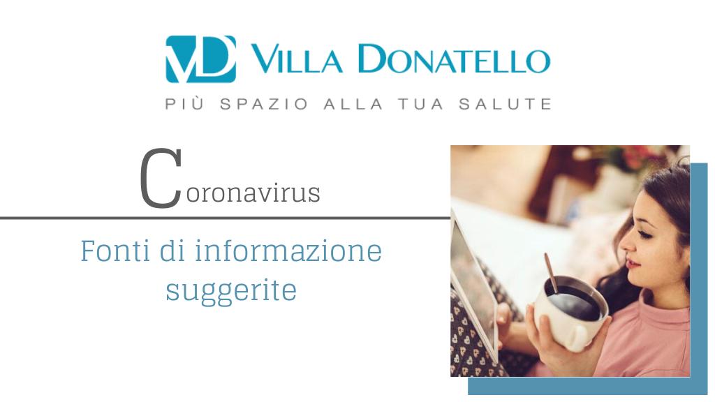 copertina della sezione dedicata alle fonti autorevoli su coronavirus