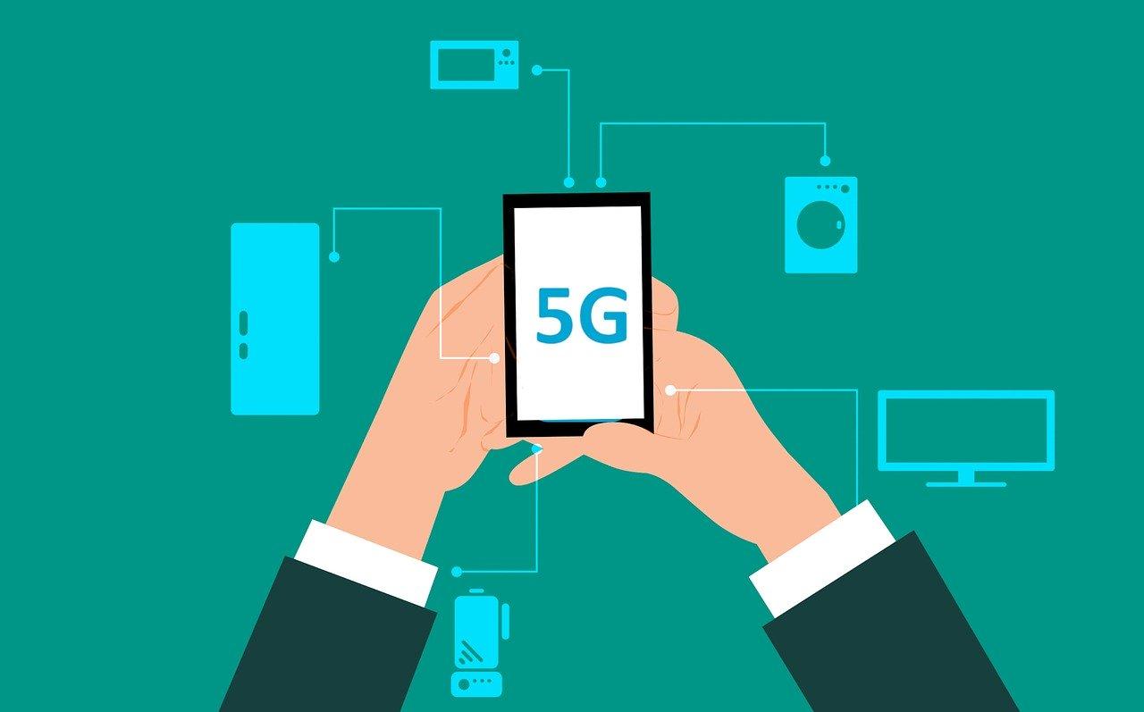 grafica che mostra il 5G