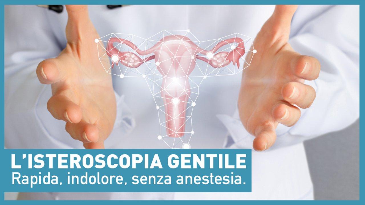 copertina con disegno didascalico che mostra il servizio di isteroscopia laser
