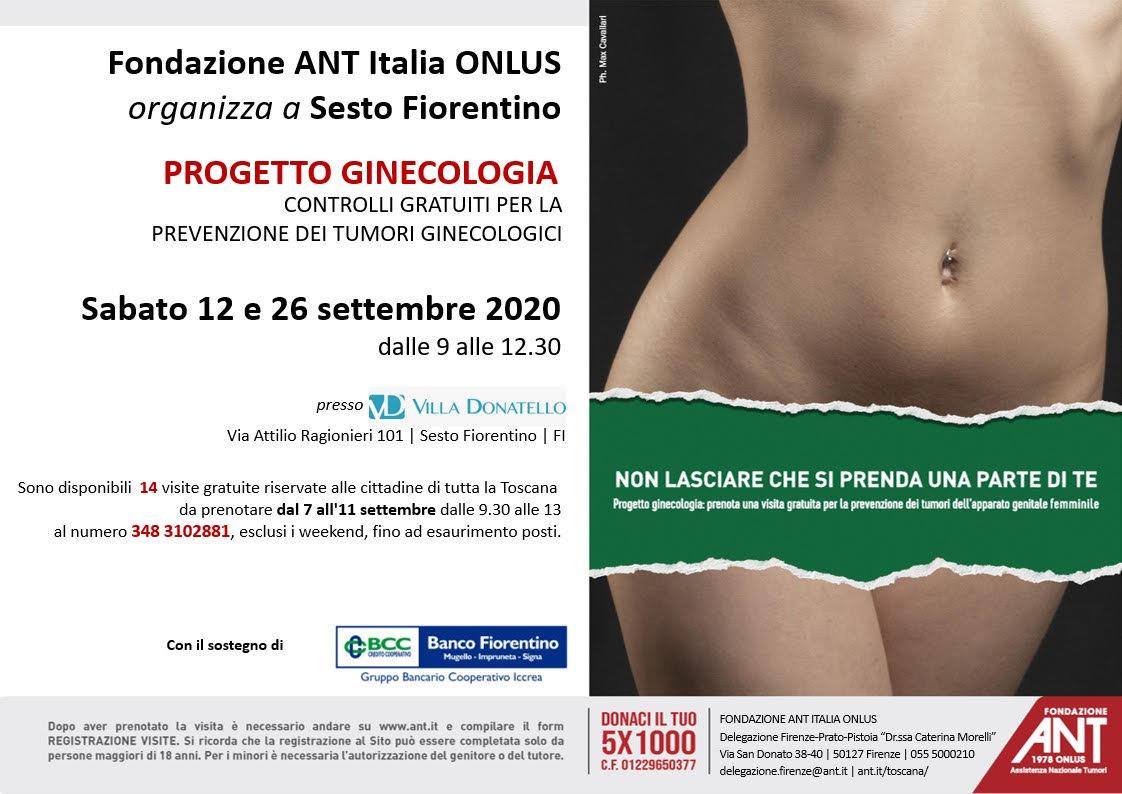 locandina delle visite di prevenzione oncologica gratuite per il Progetto Mammella - Settembre 2020