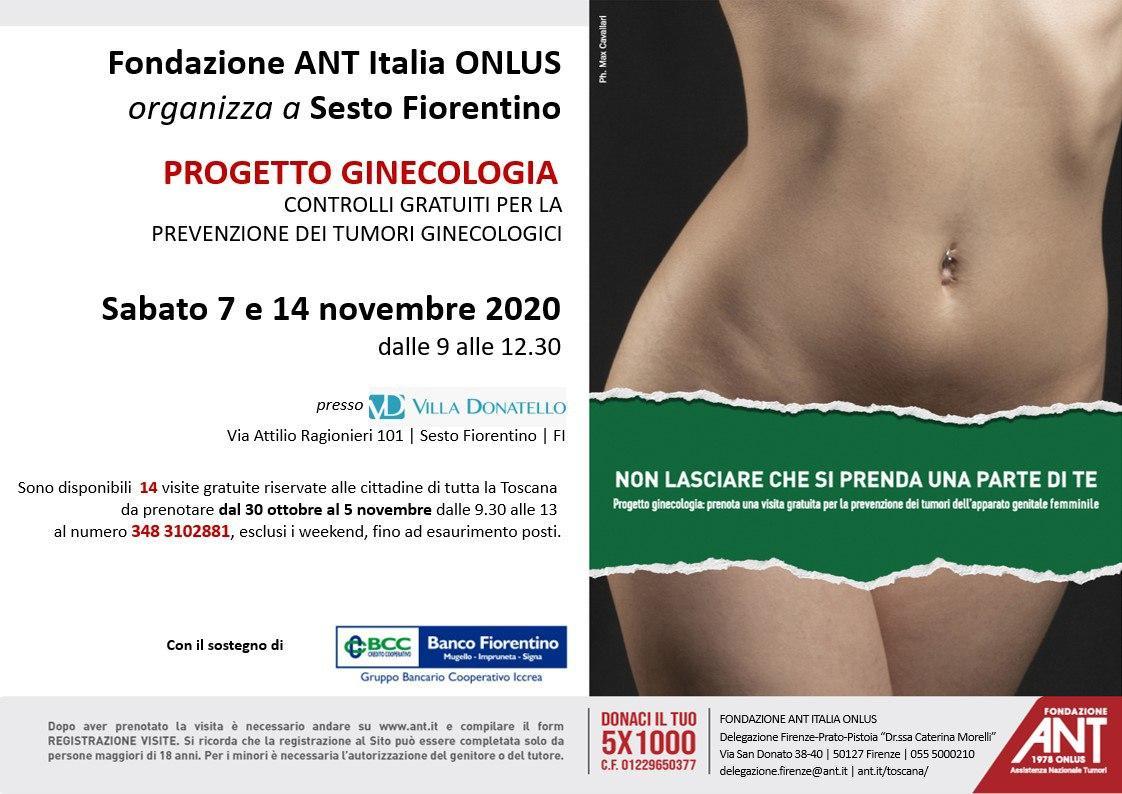locandina di presentazione del Progetto Ginecologia Novembre 2020