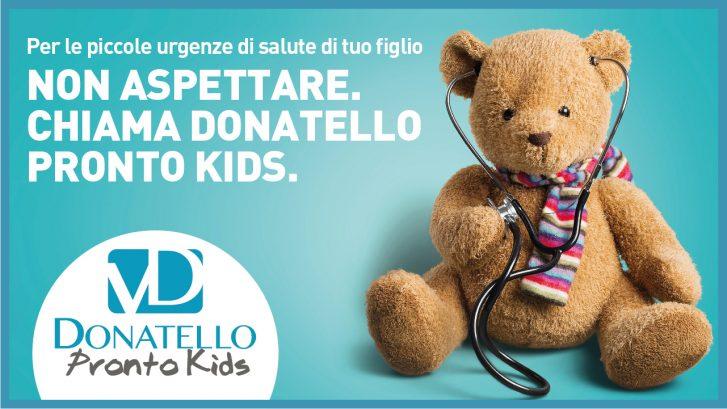la locandina del servizio Donatello Pronto Kids