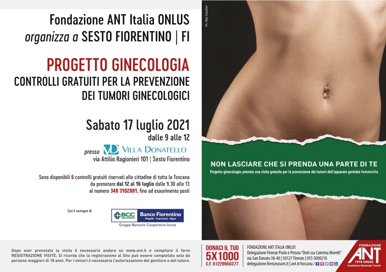 locandina del progetto ginecologia di Luglio 2021